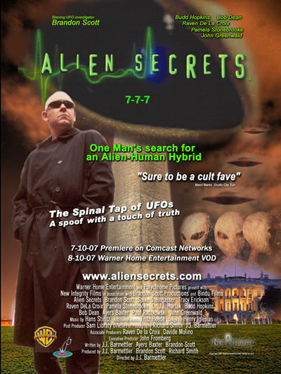 Alien Secrets movie poster Roswell NV theatrical release